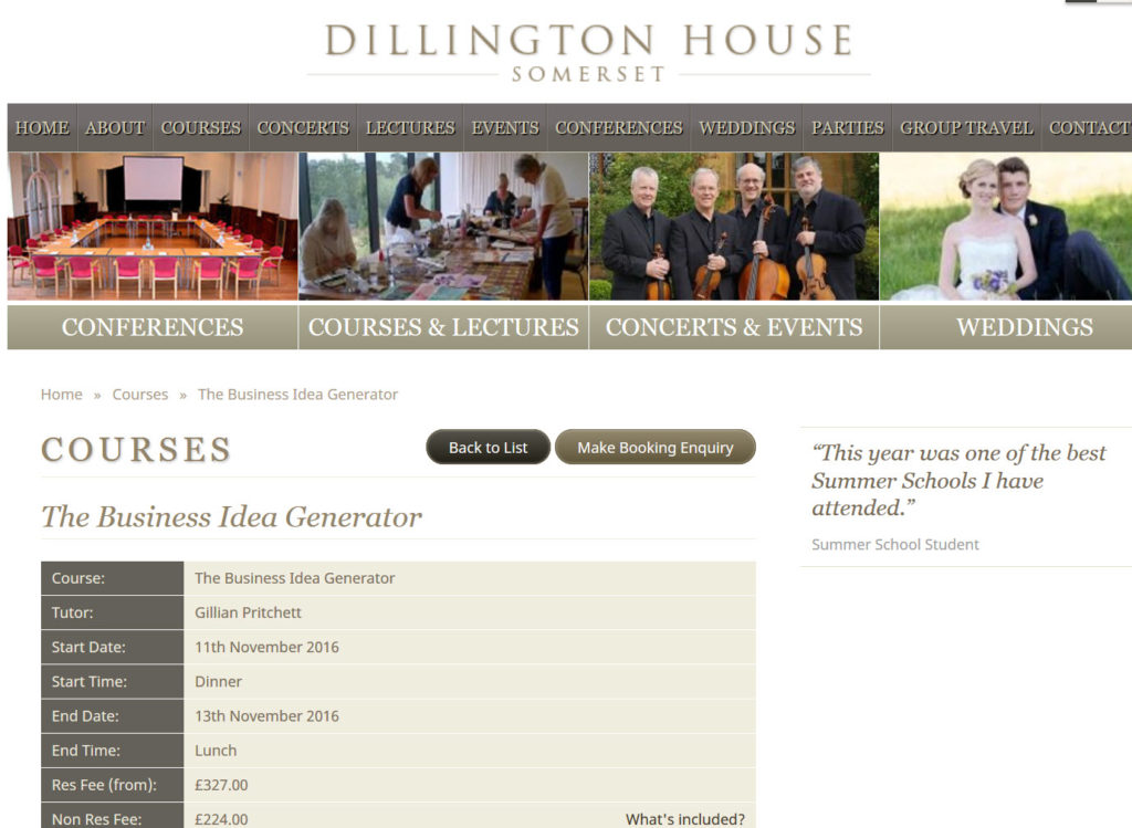 Dillington IG page